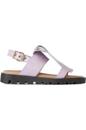 Marni Sandals - Kids Purple Fringe Sandals