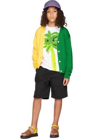 Marni Kids Yellow & Green Split Cardigan