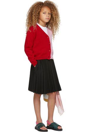 Marni Kids Red & Pink Split Cardigan