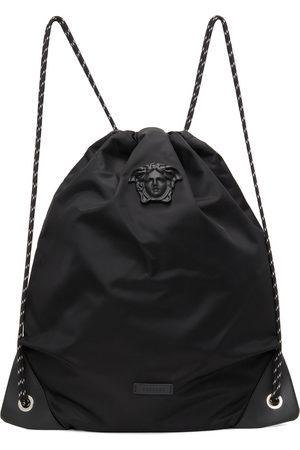 Versace Women Rucksacks - Black 'La Medusa' Drawstring Backpack