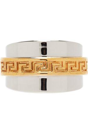VERSACE Silver Greca Ring
