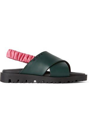 Marni Sandals - Kids Green & Pink Slingback Sandals