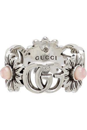 Gucci Silver Double G Flower Ring