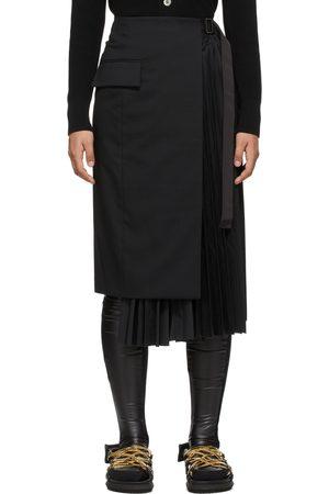 SACAI Pleated Suiting Skirt