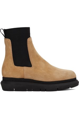 SACAI Men Chelsea Boots - Brown Side Gore Chelsea Boot