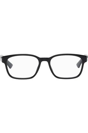 Gucci Black Acetate Rectangular Glasses