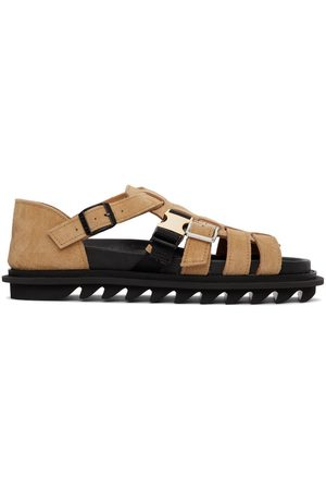 SACAI Beige Multi-Belted Sandals