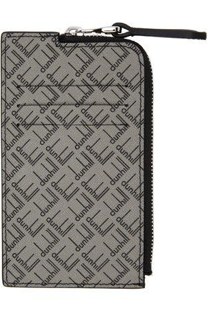 Dunhill Grey Logo Zip Card Holder