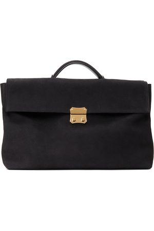 Ermenegildo Zegna Brown Suede Foldable Briefcase