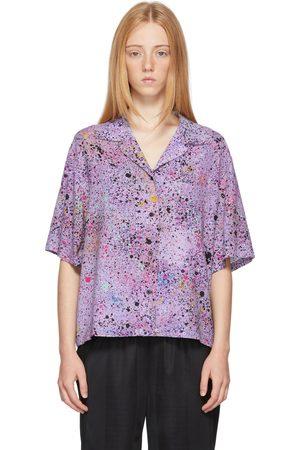 McQ Purple Hyper Speckle Short Sleeve Shirt
