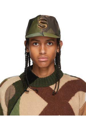 SACAI Green KAWS Edition Camo 'S' Cap