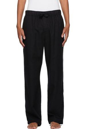 Tekla Black Flannel Pyjama Pants