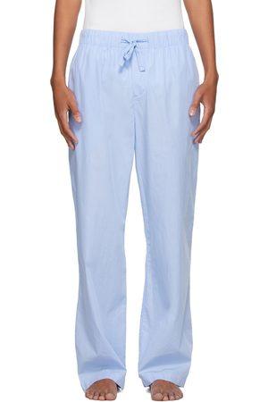 Tekla Blue Poplin Pyjama Pants
