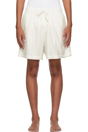 Tekla White Flannel Pyjama Shorts