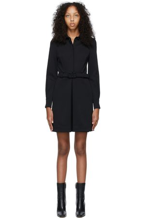 VALENTINO Black Compact Jersey VLogo Dress