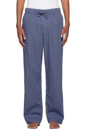 Tekla Blue & Grey Striped Pyjama Pants