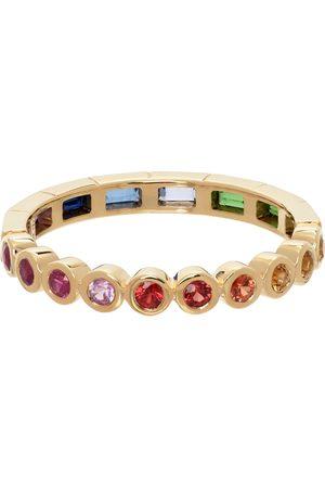 YVONNE LÉON Gold Alliance Rainbow Gemstone Ring