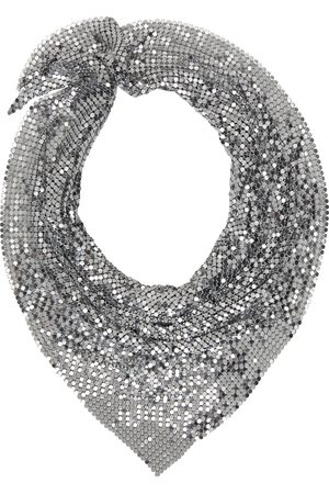 Paco rabanne Women Necklaces - Silver Mini Mesh Scarf Necklace