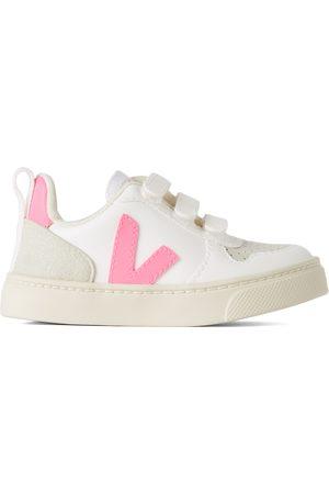 Veja Sneakers - Baby White & Pink V-10 Sneakers