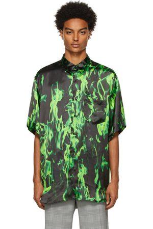 VETEMENTS Men Short sleeves - Black & Fluid Short Sleeve Shirt