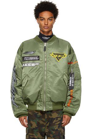 VETEMENTS Men Bomber Jackets - Alpha Industries Edition Racing Logo Bomber Jacket