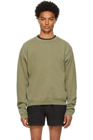 John Elliott Green Cross Thermal Sweatshirt