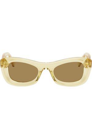 Bottega Veneta Yellow Acetate Cat-Eye Sunglasses