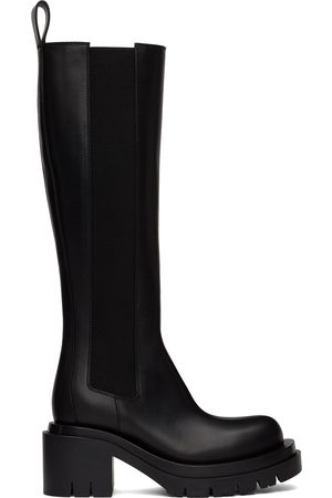 Bottega Veneta Black Lug Tall Boots