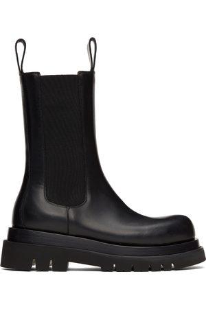 Bottega Veneta Black Lug Chelsea Boots