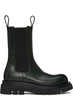 Bottega Veneta Green Lug Chelsea Boots