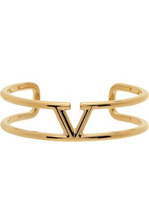 VALENTINO GARAVANI Gold VLogo Cuff Bracelet