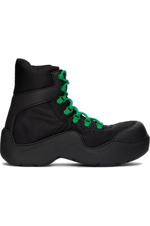 Bottega Veneta Black & Green Puddle Bomber Boots