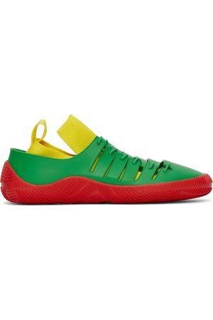 Bottega Veneta Green & Red Climber Sneakers
