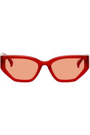 PROJEKT PRODUKT Red Acetate Cat-Eye Sunglasses