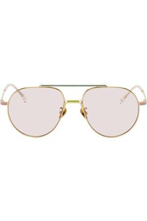 Projekt Produkt Gold Titanium Aviator Sunglasses