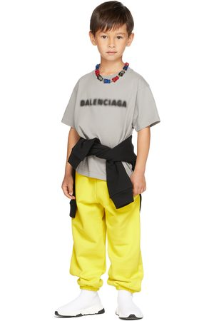 Balenciaga Kids Kids Grey Blurry T-Shirt