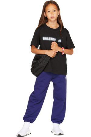 Balenciaga Kids Black Blurry T-Shirt