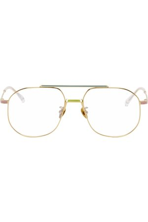 PROJEKT PRODUKT Gold & Multicolor Titanium Aviator Glasses