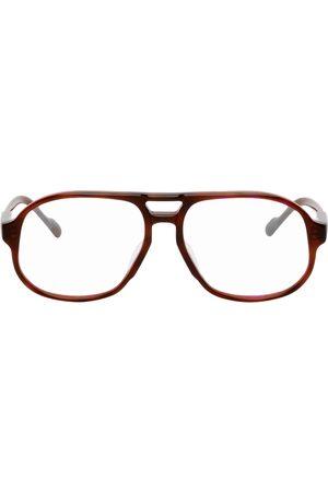 Projekt Produkt Brown Acetate Aviator Glasses