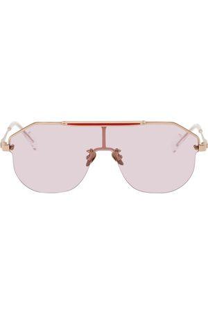 PROJEKT PRODUKT Pink Titanium Shield Sunglasses