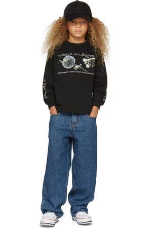 Molo Kids Black Organic Cotton Rin Long Sleeve T-Shirt