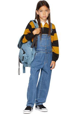 Molo Kids Black & Yellow Wide Stripe Relz Long Sleeve Polo