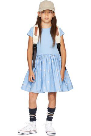 Molo Kids Blue & Silver Polka-Dot Cissa Dress