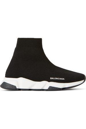 Balenciaga Kids Black & White Speed Sneakers