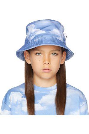 Molo Kids Blue & White Siks Bucket Hat