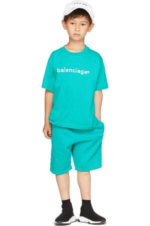 Balenciaga Kids Kids Blue Brushed Shorts