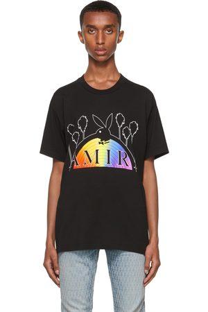 AMIRI Black Playboy Edition Rainbow T-Shirt
