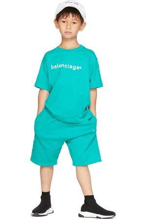 Balenciaga Kids Kids Blue Logo T-Shirt
