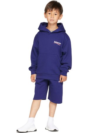 Balenciaga Kids Kids Navy Campaign Hoodie