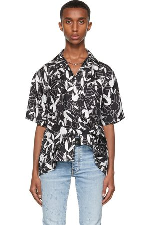 AMIRI Black Playboy Edition Silk All Over Short Sleeve Shirt
